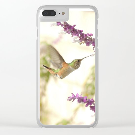 Ms. Hummingbird Checks Another Nectar Source Clear iPhone Case