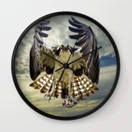 Bringing home breakfast Wall Clock