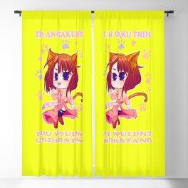 Anime Chibi Otaku Thing Geek Mangaka Gift Blackout Curtain