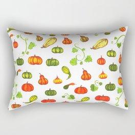 Autumn Pumpkin and Gourd Pattern Rectangular Pillow