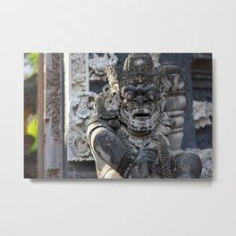 Stone Bali Scupture Metal Print