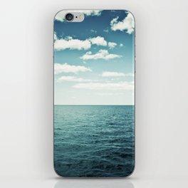 Ocean Sky Photography, Sea Horizon, Dark Teal Turquoise Aqua Blue Seascape iPhone Skin