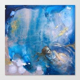 Silent Swim Canvas Print
