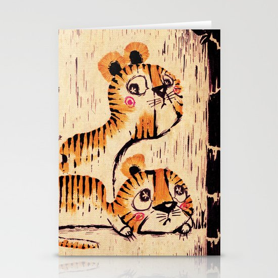 Two Little Tigers Stationery Cards
