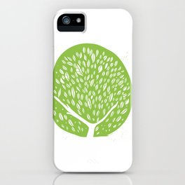 Tree of life - pea green iPhone Case