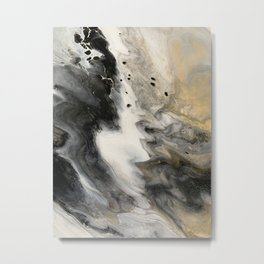 Abstract Acrylic Pour Painting Metal Print