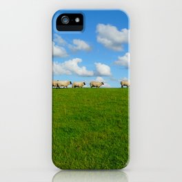 Landscape with sheeps iPhone Case