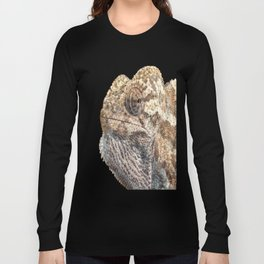 Chameleon With Sinister Facial Expression Isolated Long Sleeve T-shirt