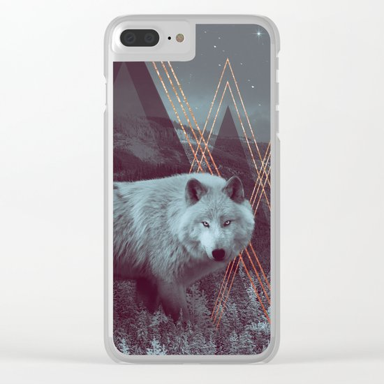 In Wildness | Wolf Clear iPhone Case