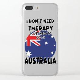 Australia Clear iPhone Case