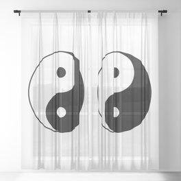 Yin Yang Taijitu Symbol Sheer Curtain