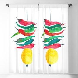 Lemon chilli charm Blackout Curtain