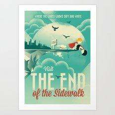 The End of the Sidewalk Art Print