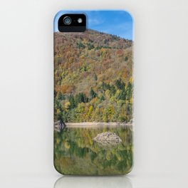 Autumn lake view in France iPhone Case