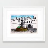 philippines Framed Art Prints featuring Philippines : Carriedo Fountain by Ryan Sumo