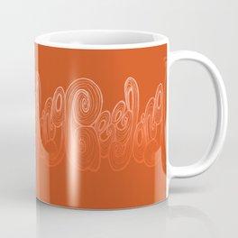 Geelong Typography - Orange Coffee Mug