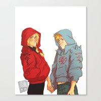 johannathemad Canvas Prints featuring hoodies by JohannaTheMad
