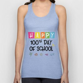 Happy 100th Day Of School Funny Emoji Unisex Tank Top