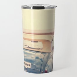 Beach Bum Vintage Car Travel Mug