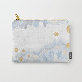 Blue & Gold Painting Carry-All Pouch