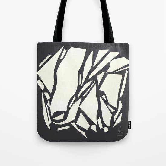 Abstract black white Tote Bag