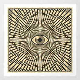 Black eye of providence Art Print