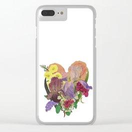 Tender Heart Bouquet Clear iPhone Case