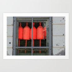 Buoys in the Window Art Print