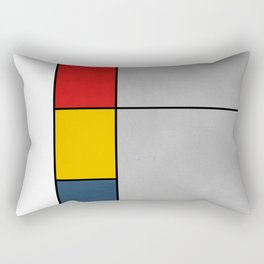 Red Yellow Blue Gray Geometric Abstract Pattern Rectangular Pillow