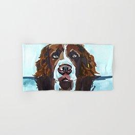 Swimming Dog Portrait Hand & Bath Towel