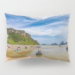 Fishing Boats Thailand Pillow Sham