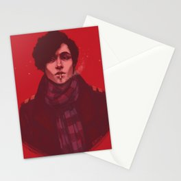 Michael on Red Stationery Cards