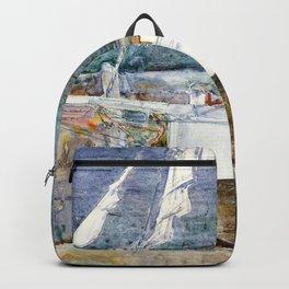 Frederick Childe Hassam - Drydock, Gloucester - Digital Remastered Edition Backpack