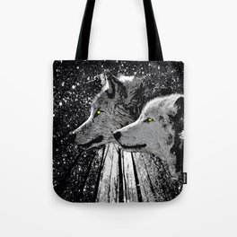 WOLF OF THE NIGHT FOREST Tote Bag
