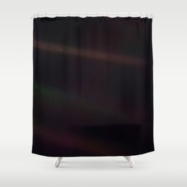 Mote of dust, suspended in a sunbeam Shower Curtain
