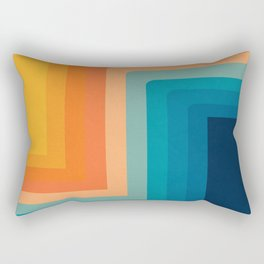 Retro 70s Color Lines Rectangular Pillow