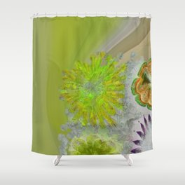 Caudocephalad Imagination Flower  ID:16165-011823-84320 Shower Curtain