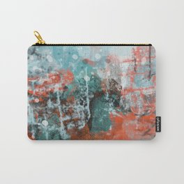 Abstract in Bright Orange and Turquoise Blue Carry-All Pouch
