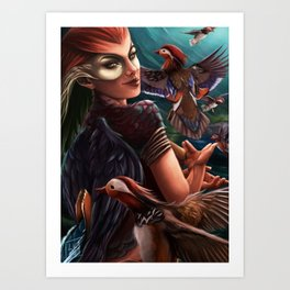 Mandarin Queen of the Sky Art Print