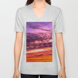 Sunset sky Unisex V-Neck