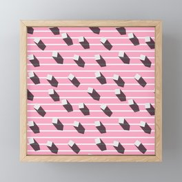 sugar cubes with long shadows Framed Mini Art Print