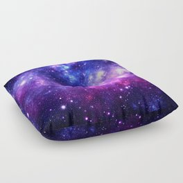 Purple Blue Galaxy Nebula Floor Pillow