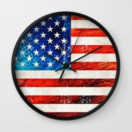 American Flag Art - Old Glory - By Sharon Cummings Wall Clock