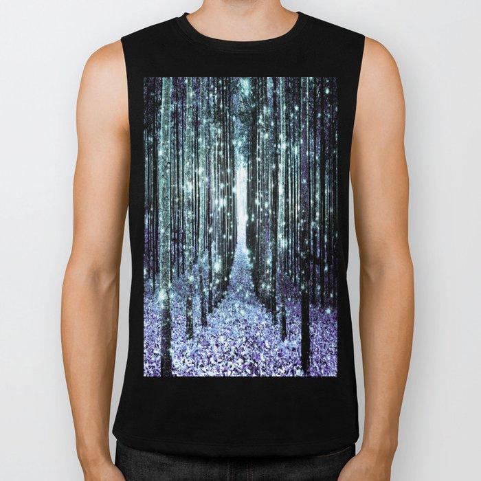 Magical Forest Lavender Aqua/Teal Biker Tank