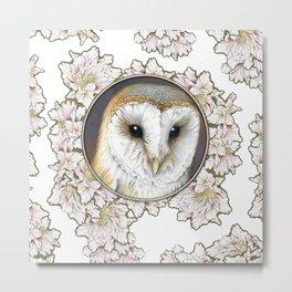 Barn owl small Metal Print