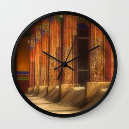 At the monastery, traditional Buddhist residential architecture (Lhasa, Tibet, Himalayas) (2016-6T19) Wall Clock