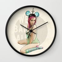 florida Wall Clocks featuring Mrs. Florida by keith p. rein