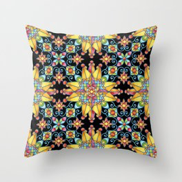 Sunshine Arabesque Throw Pillow