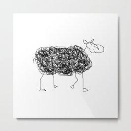 Mouton Bê Metal Print