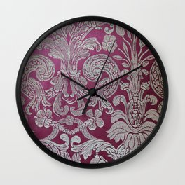 Vintage Venice - Flower Pattern Wall Clock